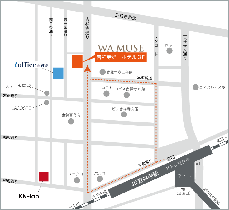 WA MUSEアクセスマップ