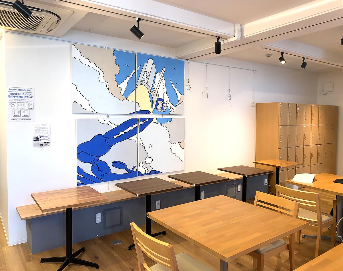 レンタルギャラリー 壁面 使用例